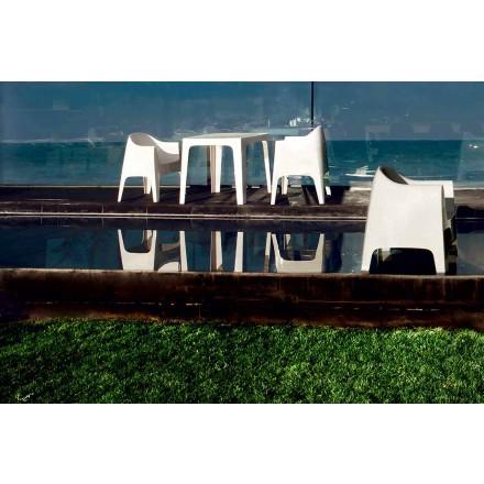 Moderne design udendørs lænestol i polypropylen, Solid by Vondom