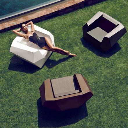 Moderne design udendørs lænestol, i polyethylen, Faz ved Vondom