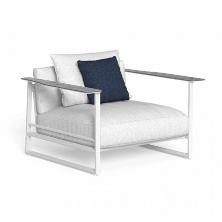Havelænestol i aluminium og Gres fremstillet i Italien - Riviera af Talenti