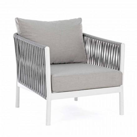 Havestol i aluminium, syntetisk fiber og homotion-stof - Rubio