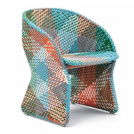 Havestol i farvet, flettet syntetisk fiber - Maat af Varaschin