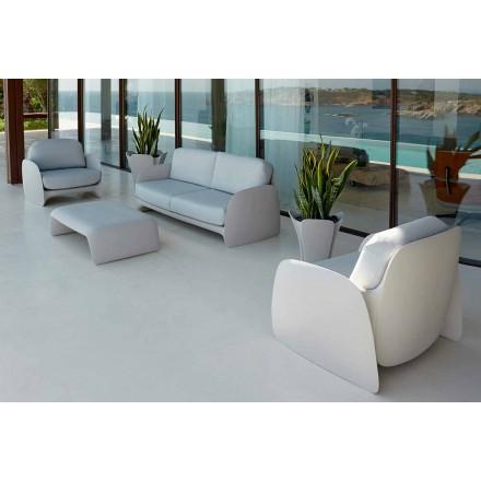 Moderne design haven lænestol i polyethylen, Pezzettina ved Vondom