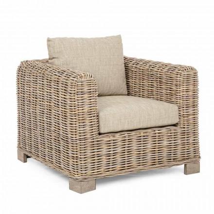 Indendørs og udendørs Rattan lænestol fra Homemotion - Ceara Design