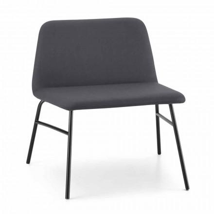 Lænestol af høj kvalitet i stof og metal fremstillet i Italien - Molde