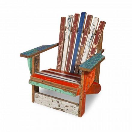 Gendannet lænestol i massivt teaktræ - Boatta