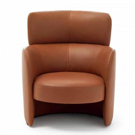 Stue Lænestol betrukket i høj kvalitet Lavet i Italien Læder - Mango