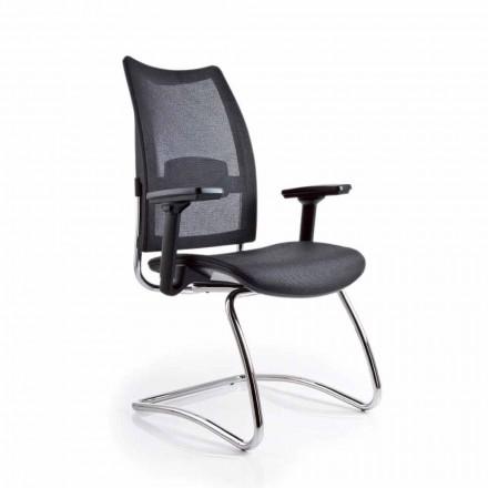 Office lænestol med armlæn og ryg i Overtime Luxy
