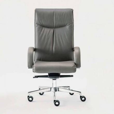 Kontorstolstol roterende i læder og Eco-læder - Oliviero