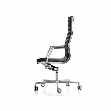 Ergonomisk kontorstol med læder eller stof Nulite Luxy
