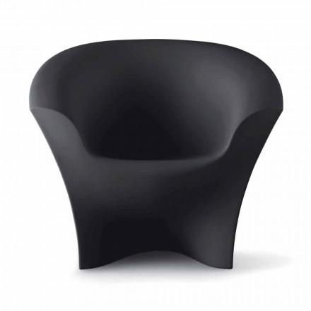 Udendørs design lænestol i mat eller lakeret polyethylen Fremstillet i Italien - Conda