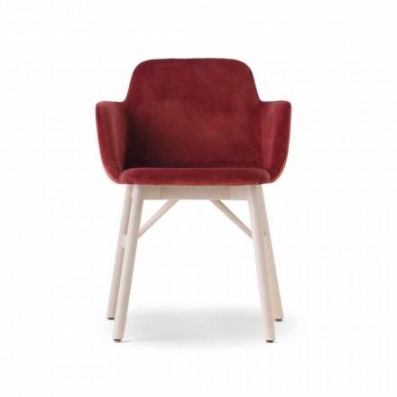 Lænestol af høj kvalitet med fløjl eller stofsæde Fremstillet i Italien - Molde