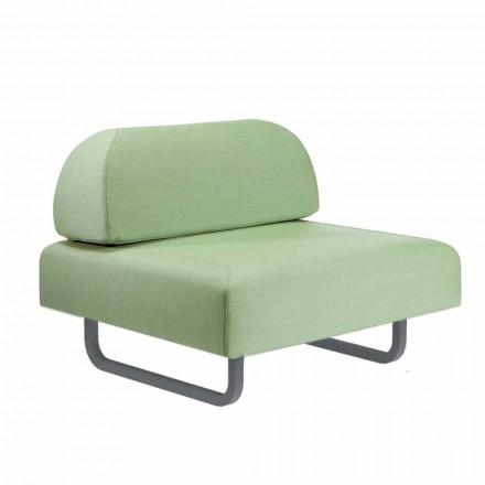 Udendørs design lænestol i metal og stof fremstillet i Italien - Selia