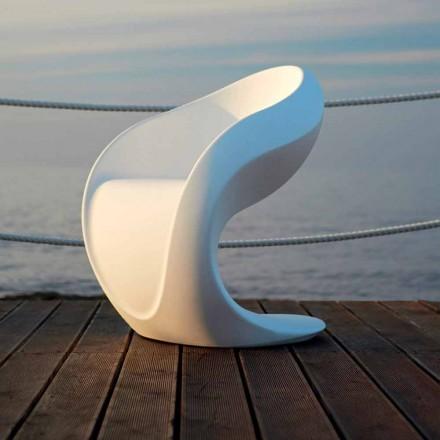 Intern eller ekstern design lænestol i hvid polyethylen - Petra fra Myyour