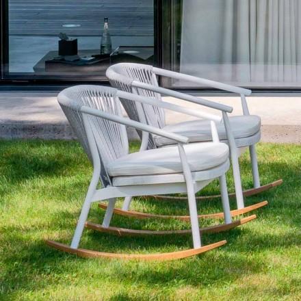 Havevagestol i massivt træ og stof - Smart af Varaschin