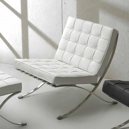 Quiltet lænestol Morella med ecoleather polstring, moderne design