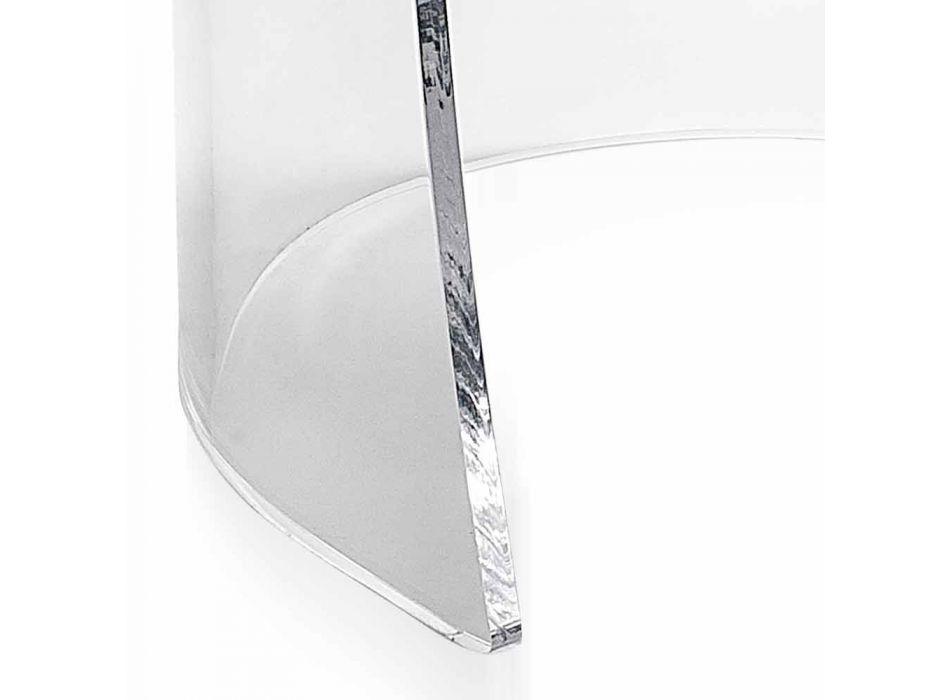 Armstol i gennemsigtige plexiglas og syntetisk læder Inside, Made in Italy