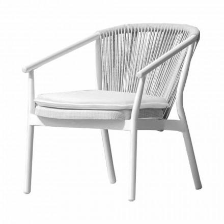 Garden Lounge Lænestol polstret stof og aluminium - Smart af Varaschin