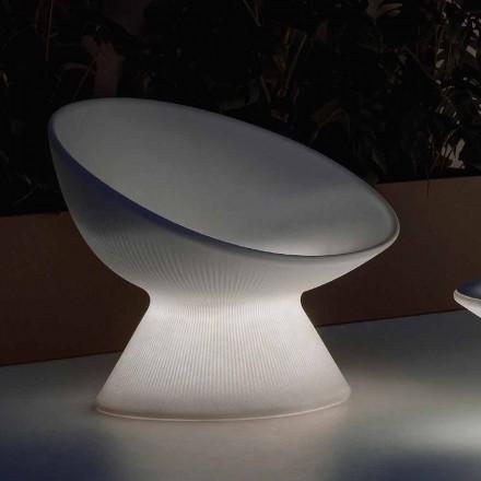 Lysende udendørs lænestol i polyethylen med LED-lys Fremstillet i Italien - Desmond