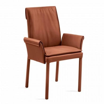 Lænestol lavet i Italien dækket af Niles læder, moderne design