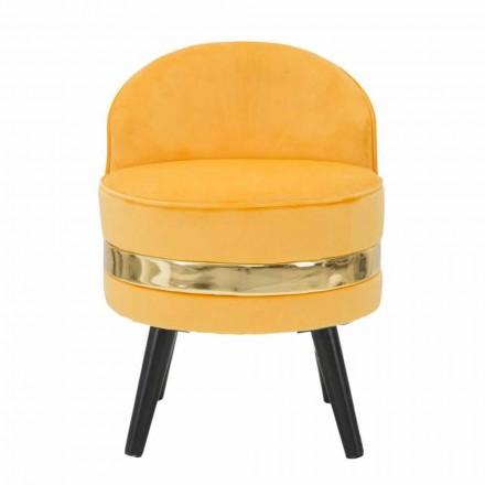 Mini farvet lænestol af moderne design i træ og stof - Koah