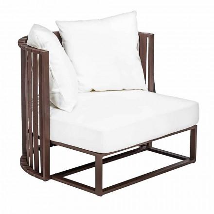 Udendørs lænestol i aluminium og luksusdesign reb 3 finish - Julie