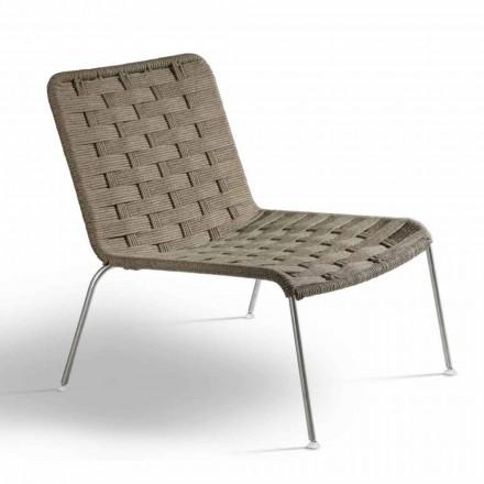 Moderne design haven lænestol i reb lavet i Italien - Madagaskar3