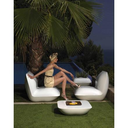 Moderne haven lænestol, lavet af polyethylen Pude af Vondom