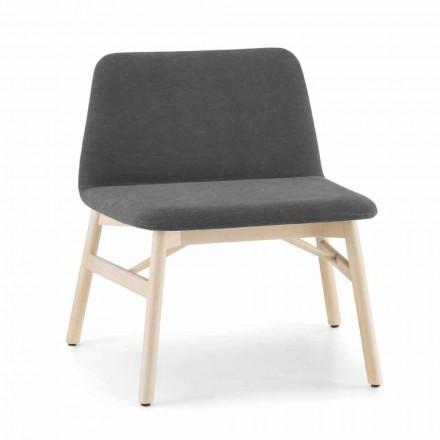 Dyrebar lænestol i stof eller fløjl med bøgefod lavet i Italien - Molde