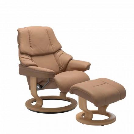 Lænestol med lænestole med nakkestøtte og osmannisk - Stressless Reno