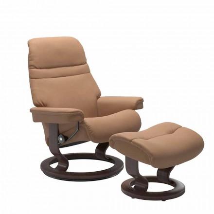 Lænestol med lænestole med nakkestøtte og osmannisk - Stressless solopgang