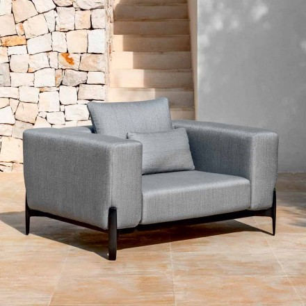 Slap af Have lænestol aluminium og stof, design i 3 finish - Filomena