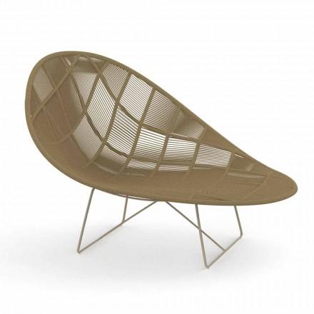 Modern Garden Relax lænestol i aluminium og stof - Panama af Talenti