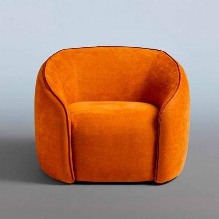 Slap af Lænestol Moderne Design Fremstillet i Italien i farvet stof - Baloo