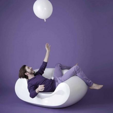 Moderne farvet have lænestol Slide Chubby, lavet i Italien
