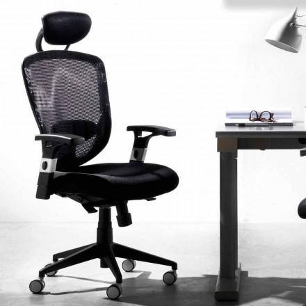 Retningsbestemt og operationelt roterende moderne sort stol - Simona
