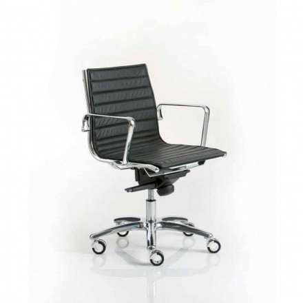 Moderne design udøvende kontorstol med hjul Light Luxy
