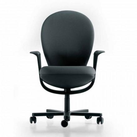 Executive kontorstol design Bea, grå sæde Luxy
