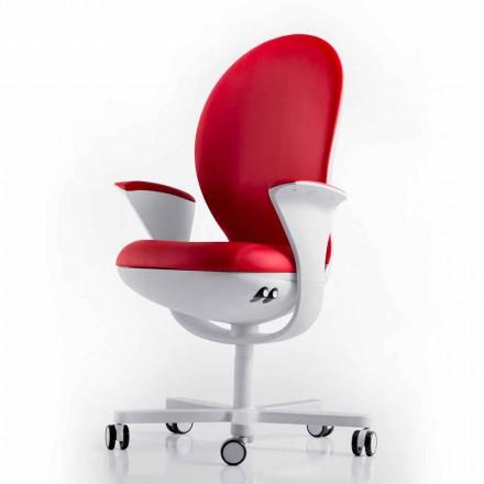 Executive kontorstol med læder eller stof Bea Luxy