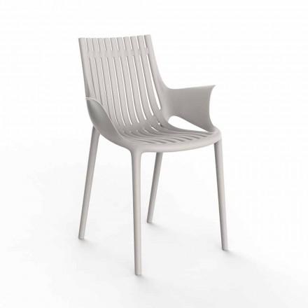 Udendørs stabelbar lænestol af plast med 4 stykker - Ibiza af Vondom