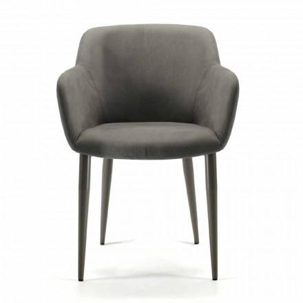Fremstillet i Italien stof eller læder lænestol, 4 stykker - Bardella