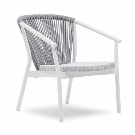 Stabelbar lænestol aluminium og stof - Smart af Varaschin