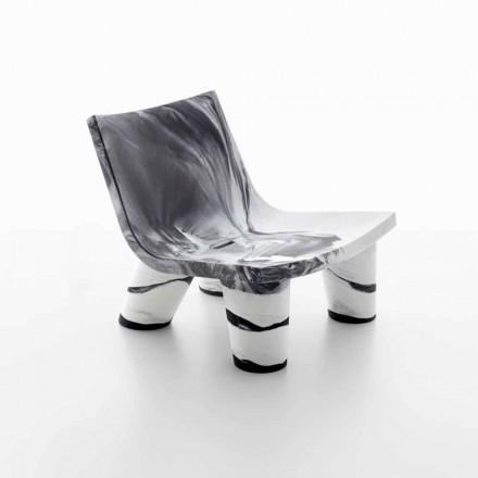 Hvid og sort udendørs lounge stol Slide Low Lita Anniversary