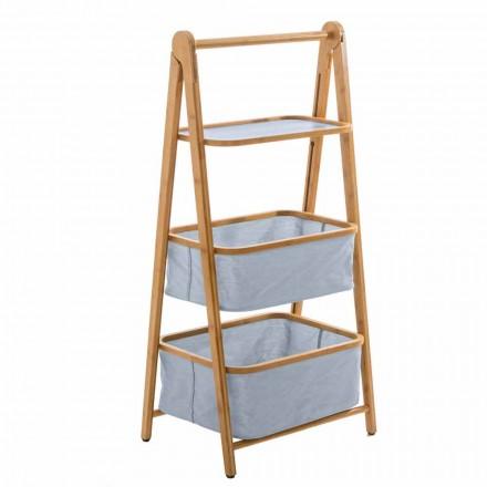 Designer badeværelse tilbehør i Vercelli stof og bambus