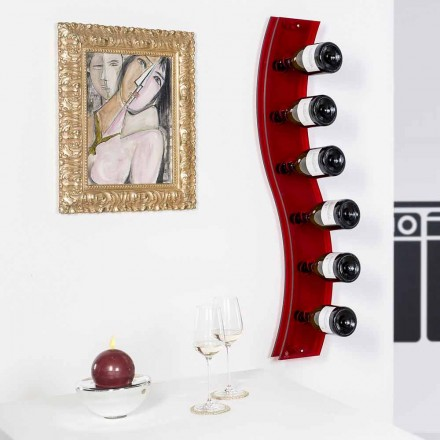 Porta flasker af designer væg L26,5xH100xP9cm Serry rosso