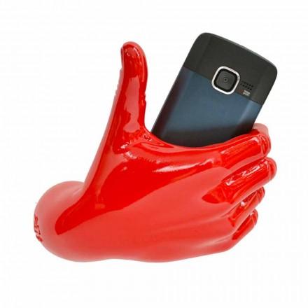 Moderne mobiltelefonholder i hånddekoreret harpiks Lavet i Italien - Curia