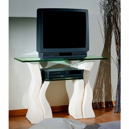Tv-stativ i Vicenza Sten og håndskåret Khloe krystal
