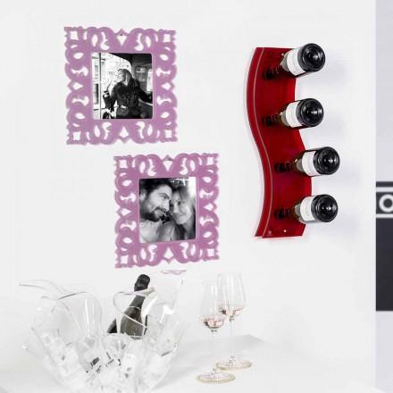 Flaske rød væg Serry L26,5xH60xP9cm Lille, moderne design