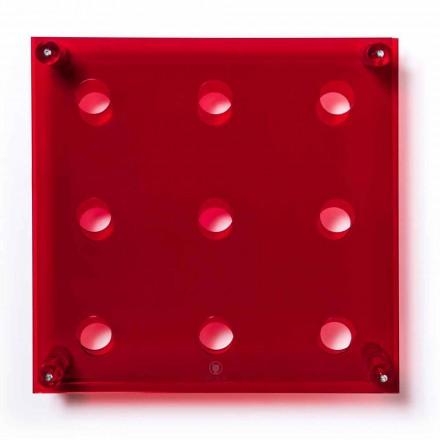 Flaske Wall Amin Big L45xH45xP13,6cm gennemsigtig rød