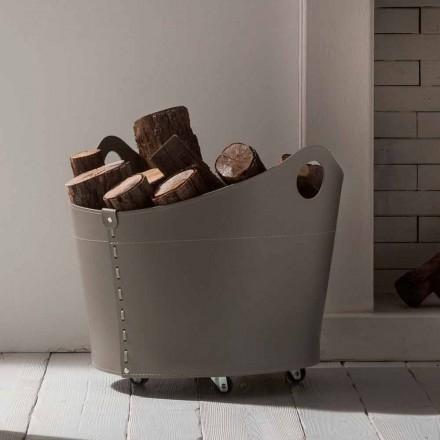 Portalegna Indendørs læder med hjul moderne design Cadin