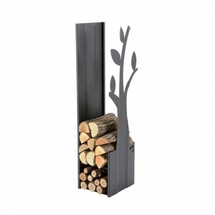 Stål indendørs brændeholder til pejs i moderne design - Maestrale1